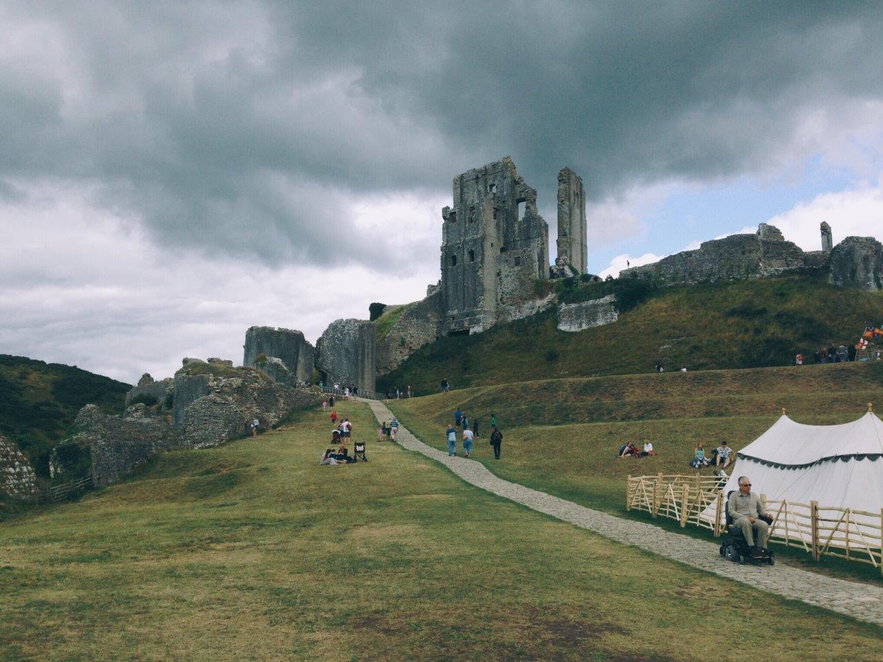 Visiting Corfe Castle