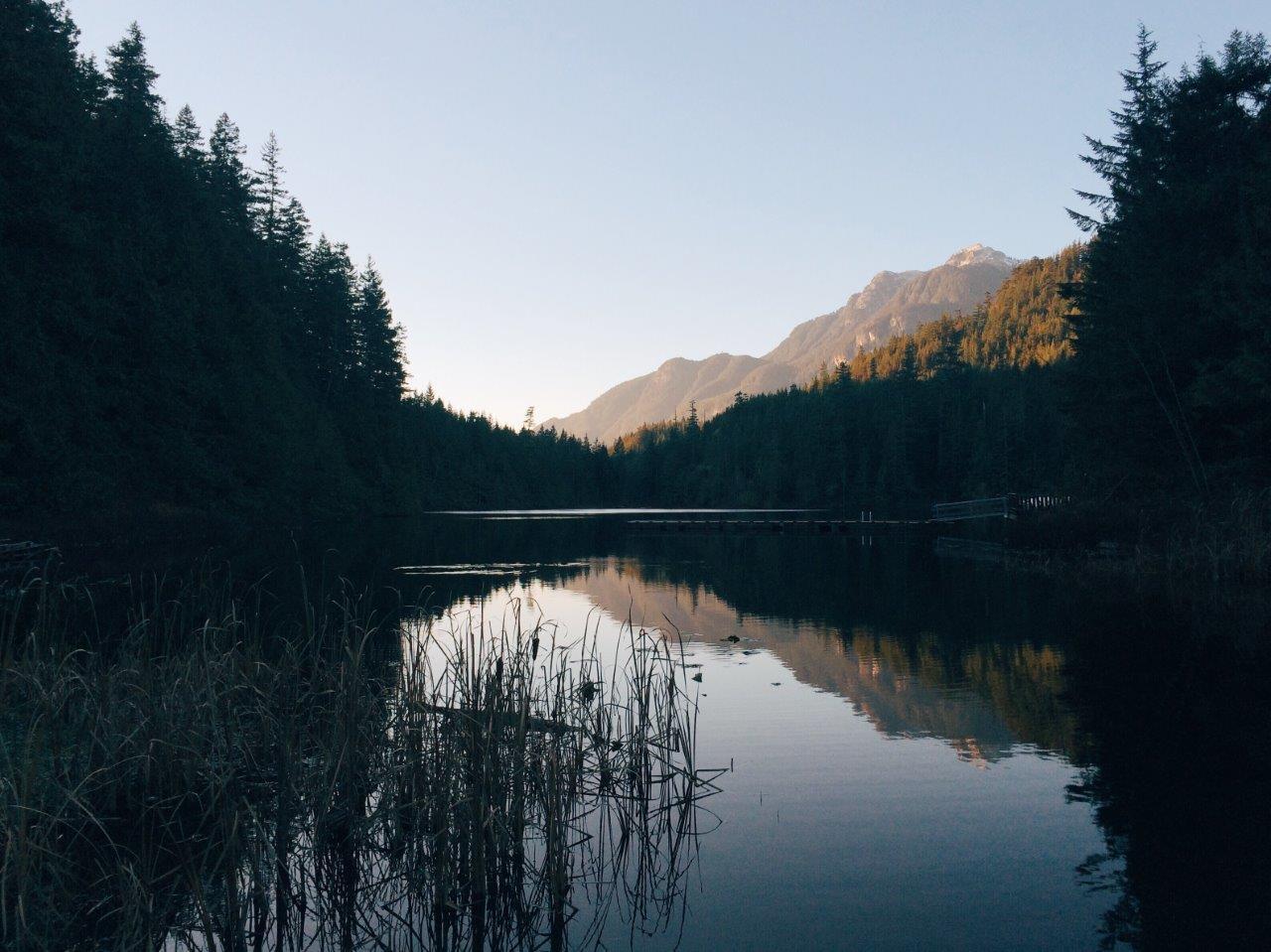 Sunrise at Evans Lake