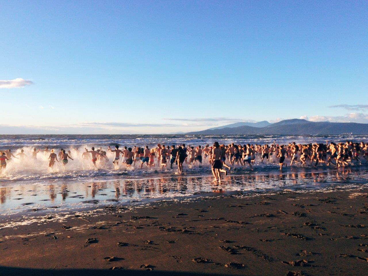 Polar Bear Swim at Wreck Beach