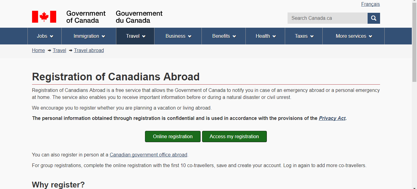 register canadians abroad