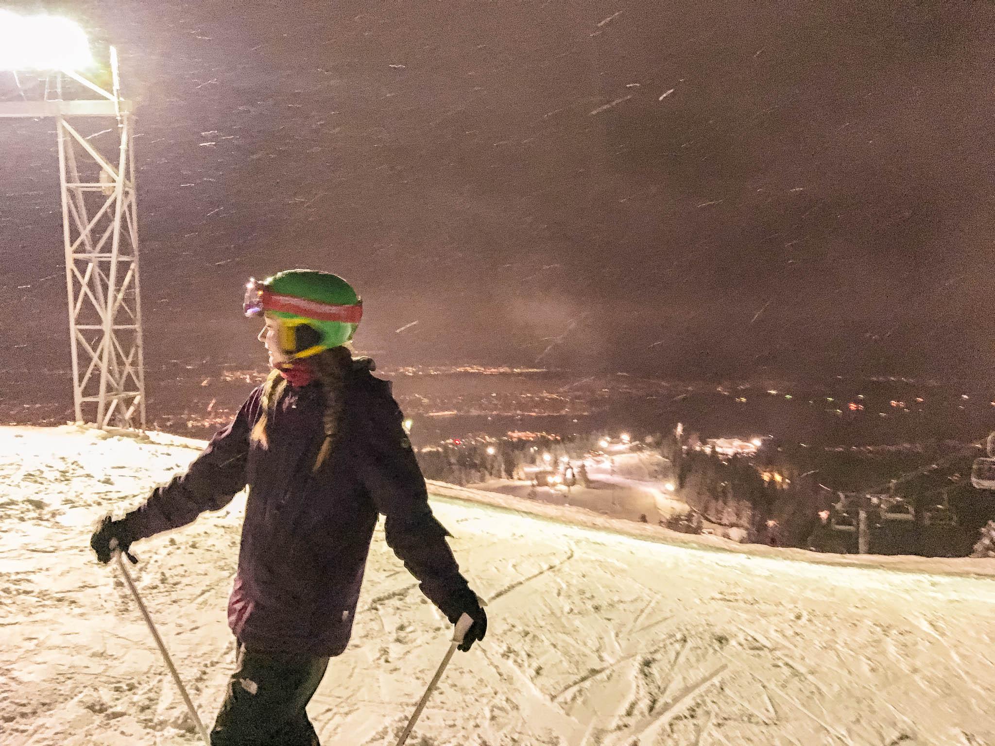 jana meerman grouse mountain night skiing-1