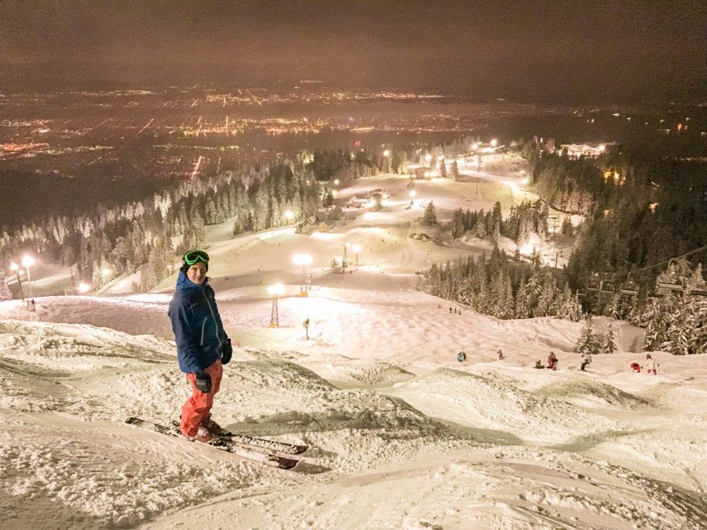 Night Skiing on Grouse Mountain