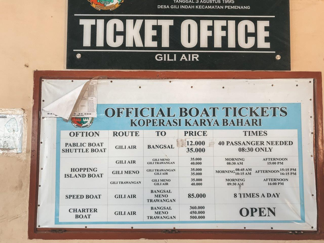 jana meerman gili air ferry times